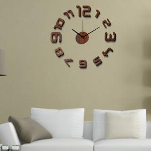 数字を壁に貼って作る時計
