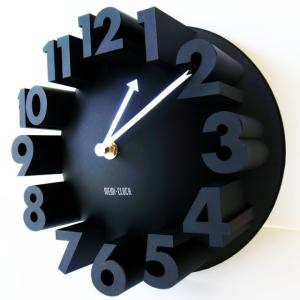 3Dな時計-- 3D ナンバー ラウンド ウォールクロック