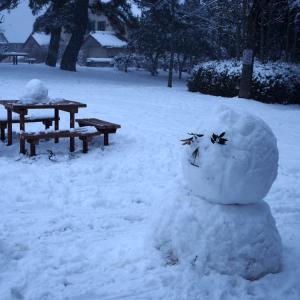 今日も雪が降ったりやんだり、時々吹雪