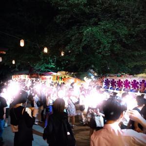 ✴︎ 夜の花園神社例大祭へお誘い頂きひとり新宿へ