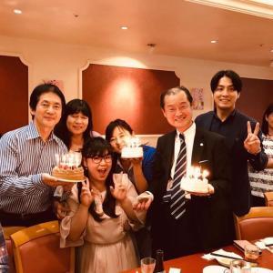 ✴︎三浦先生主催の月イチお誕生日会で一緒にお祝いして頂きました