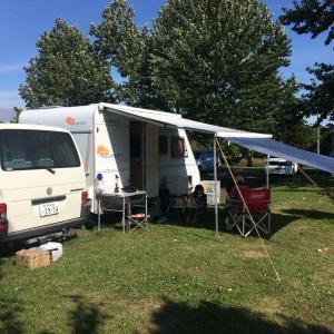 北海道 キャンプ 三重緑地公園キャンプ場 キャンピングトレーラー 南幌町 ヴァナゴン オート