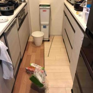 キッチンのゴミ箱を移動させました