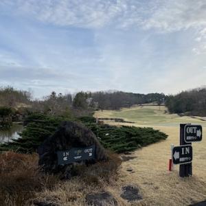富岡カントリークラブでゴルフ、帰りの軽井沢は雪景色!