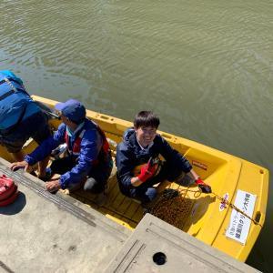 モーターボートで救助訓練❗️川のゴミ拾いでマイクロプラスチックを防げ❗️