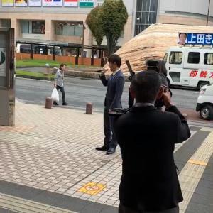 埼玉参議院議員補選で草加駅に上田きよし候補が街頭演説に来てくれましたので応援しました✨