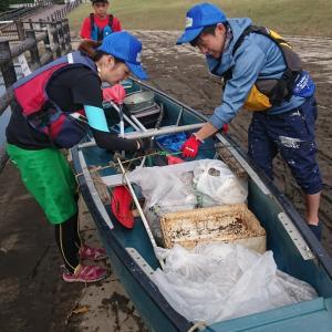 台風後の綾瀬川のゴミ拾い❗️少人数で、頑張りました✨