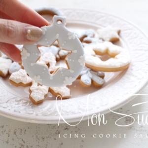 シャカシャカスノードームと雪の結晶オーナメントクッキー