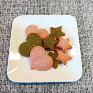 息子と作る簡単おやつ~苺と抹茶のクッキー~