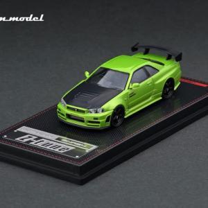 イグニッションモデル Nismo R34 GT-R Z-tune Green Metallic 1/64 予約受付中