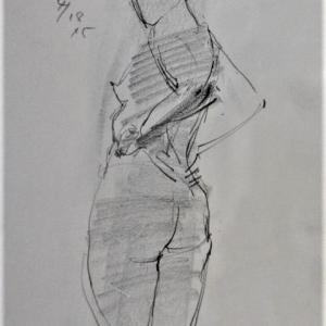 2021/4/18裸婦クロッキー