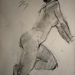 2021/10/17裸婦クロッキー