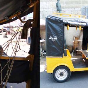 ガーナの三輪タクシー・・・【プラギア:PRAGYA】