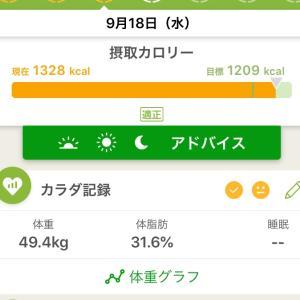 9/18   記録…φ(・ω・*)☆・゚:*