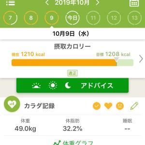 10/9  急いでダイエット
