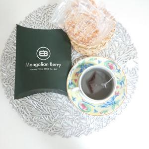 今日のお茶はお友達が送ってくれた美味しいラスクと奇跡のスーパーフードモンゴリアンベリー♪