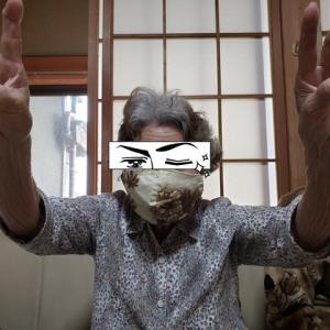 手作りマスクの贈り物
