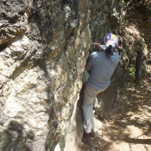 天覧山の岩トレが大盛況? 今回からザイルも用いたトレーニングも加わります