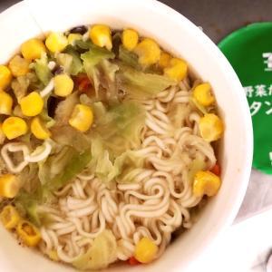 台風荒天の野菜タンメン♪