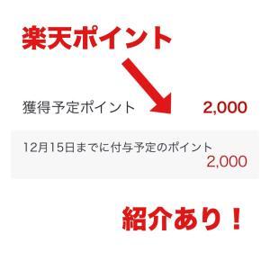 紹介あり!2000円の楽天ポイントもらえる!
