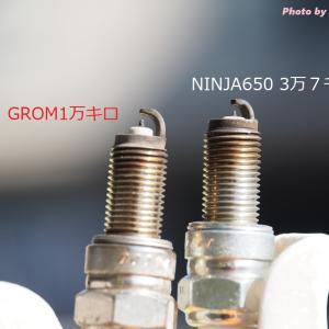 スパークプラグ交換(NINJA650)