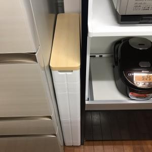 買ってよかった。  ニトリのキッチン隙間収納ラック