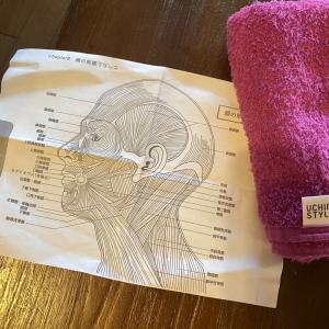 楽しい一日 チェアヨガでは顔の筋膜リリースを習いました。