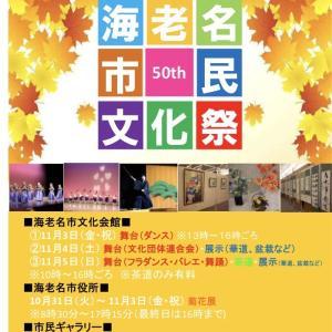 海老名市民文化祭に出演します!
