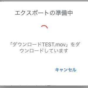 GoogleドライブからiPhoneに動画を保存できない