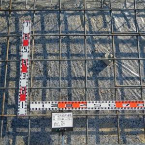 11/24(火) 晴れ くもり 鉄筋の組立が完了しました。