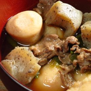 愛媛のいもたきの次は、やっぱり山形の内陸地方の芋煮にチャレンジするみかん亭。