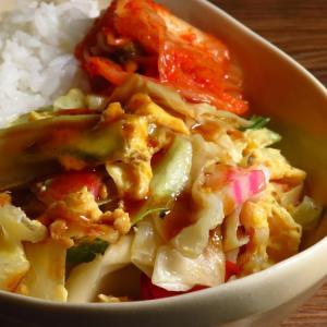 オタフクのたこ焼きソース任せの野菜炒めと、至福に過ごした週末と。