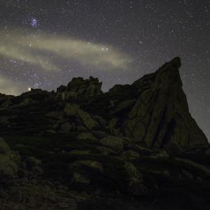 木曽駒ヶ岳の星