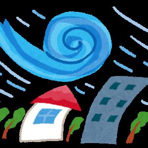 台風とメダカ水槽の蓋