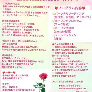 【癒し癒されるパートナーシップの準備プログラム♡】