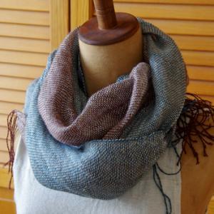 手織りのストール/アイリッシュリネン