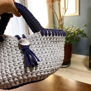 【オーダー品】Tシャツヤーン手編みバッグ