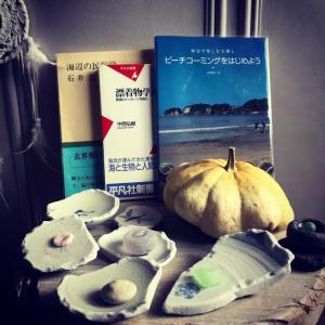 琵琶湖でビーチコーミング(レイクコーミング)2019年秋2:洗浄〜江戸陶片、ウランガラス。