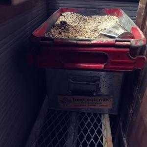 ベランダガーデンDIY〜収納棚リメイクwith作業台。