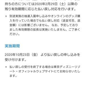東京ディズニーリゾートの年間パスポートの払い戻しの発表
