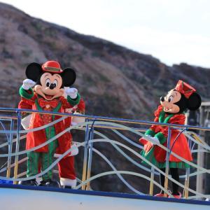 ディズニーシーのクリスマス装飾&クリスマスバージョンのグリーティングショー