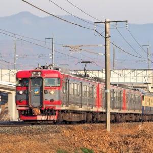 しなの鉄道(12/4):千曲川堤防にて