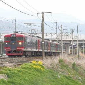 しなの鉄道(4/24):千曲川堤防にて