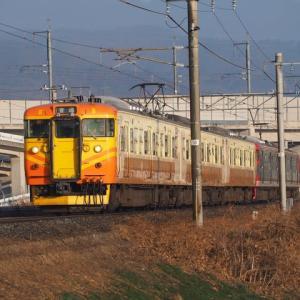 しなの鉄道(12/11):千曲川堤防にて