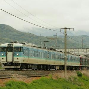 しなの鉄道(5/7):千曲川堤防にて