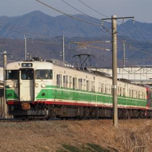 しなの鉄道(2/5):千曲川堤防にて