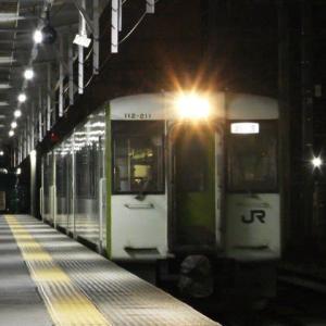 回送列車(3/14):夜の長野駅にて②