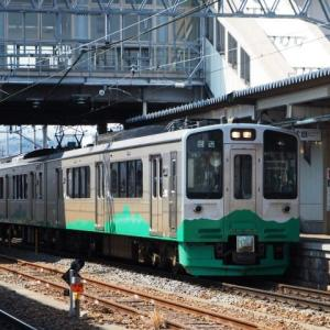回送列車(3/15):ET127系V8編成回送(豊野駅にて)