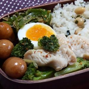 4月のお弁当(鶏肉とブロッコリーの塩炒め)と 今朝のまろん