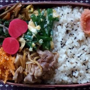 6月のお弁当(豚肉の生姜焼き)